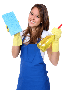 cleaninglady 1 220x300 Static Electricity and House Cleaning